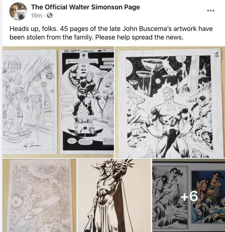 John Buscema art thief