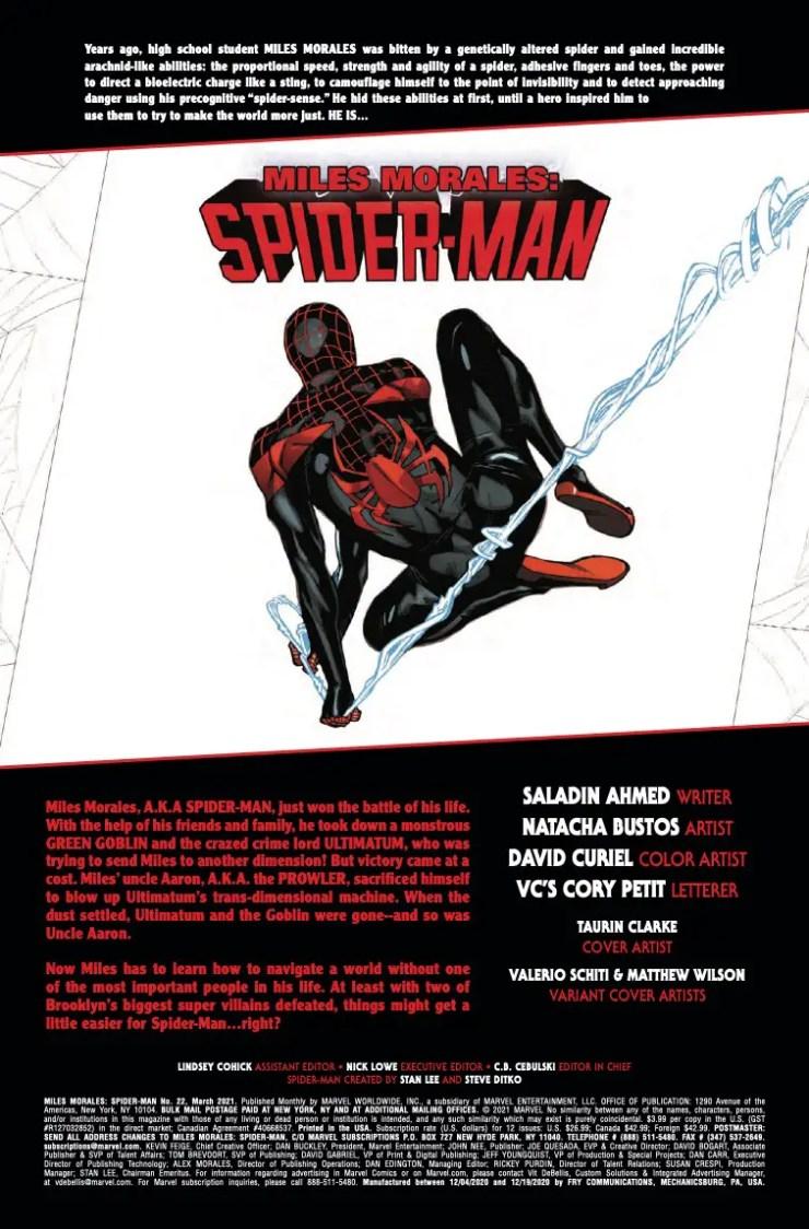 Miles Morales: Spider-Man (2018-) #22