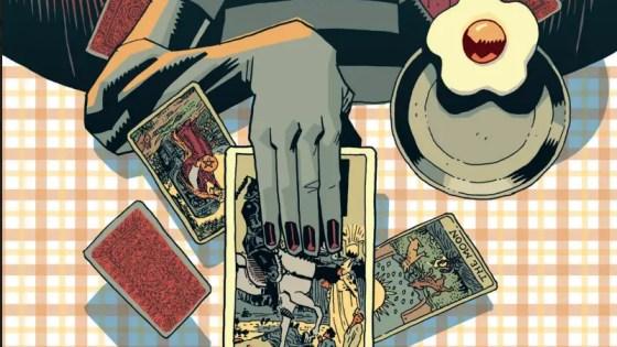 Klaus with tarot cards