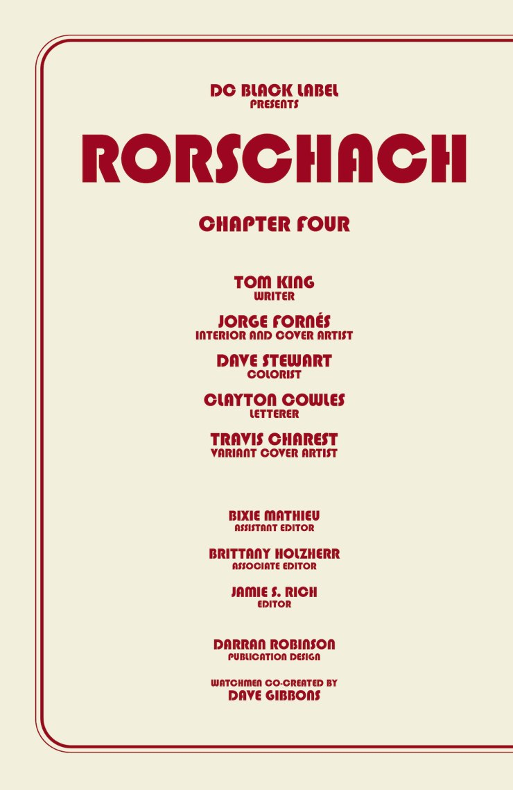 DC Preview: Rorschach #4
