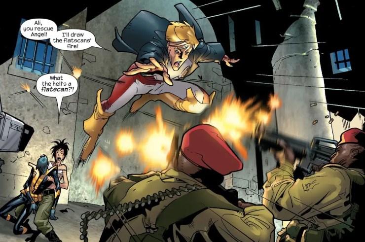 flatscane Longshot Ultimate X-Men #57