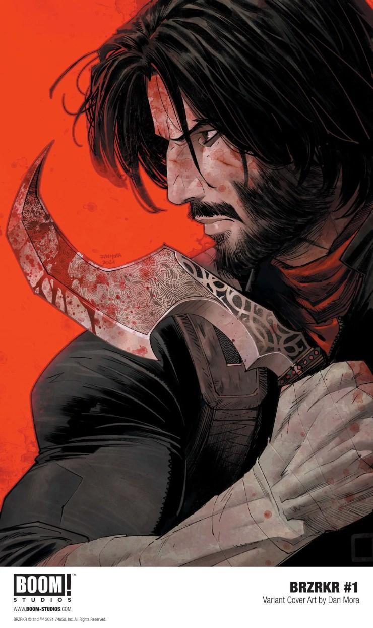 BOOM! unveils 'BRZRKR' cover by Dan Mora