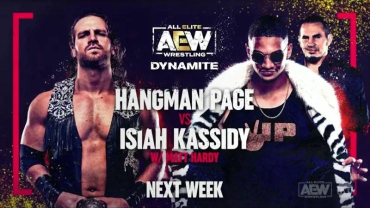 AEW Dynamite - Hangman Page vs. Isiah Kassidy