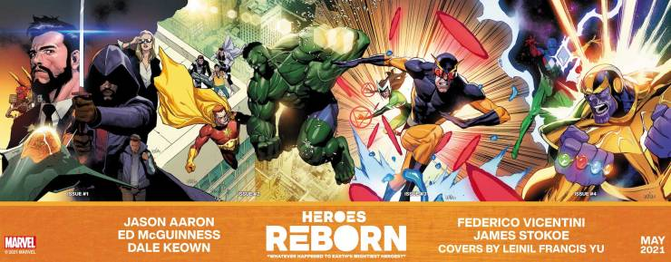 Marvel reveals 'Heroes Reborn' connecting cover by Leinil Francis Yu