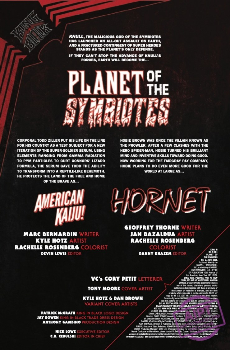 Get hype, the King In Black: Planet Of The Symbiotes #2 features AMERICAN KAIJU! YUUU! EESSS! AAAAAYY!
