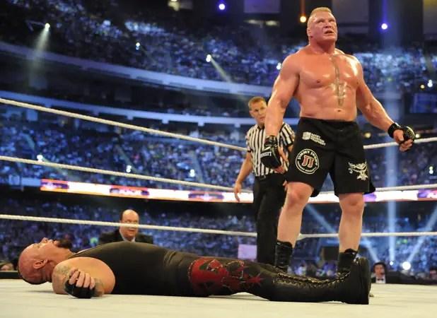 wrestling brock lesnar