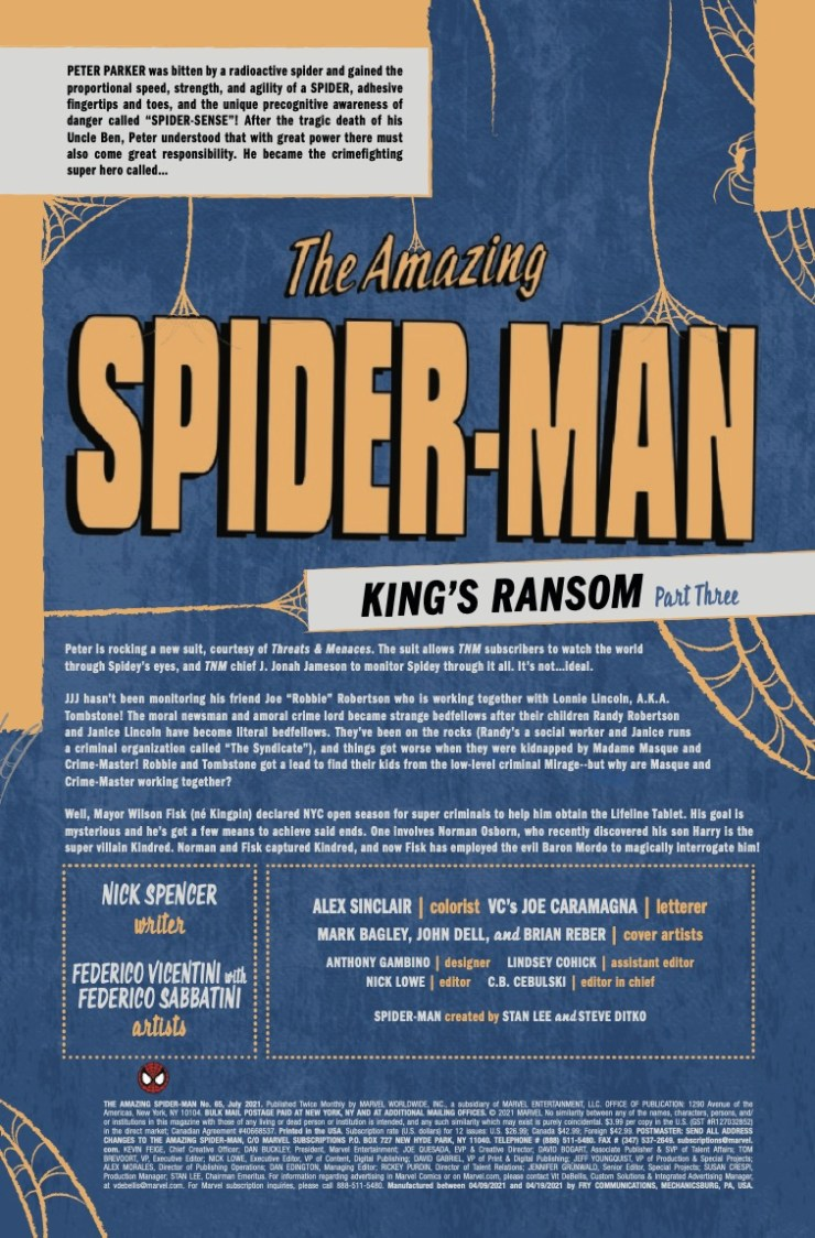 Marvel Preview: Amazing Spider-Man #65
