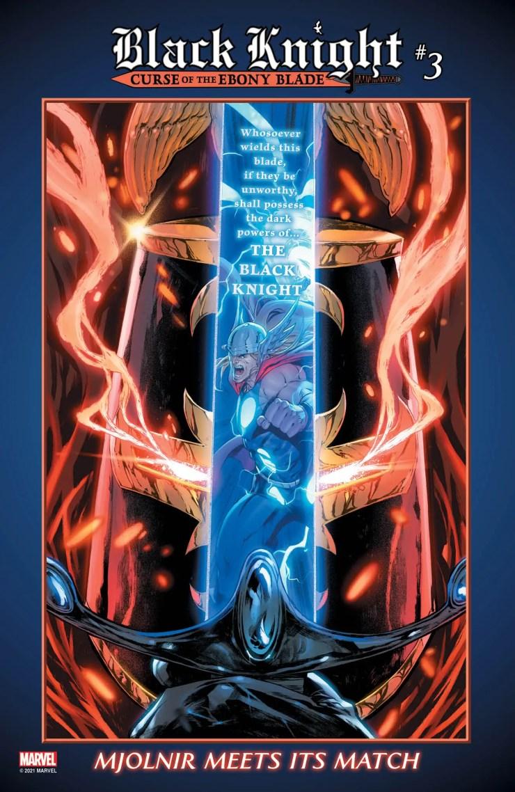 Marvel teases Mjolnir vs. the Ebony Blade this May