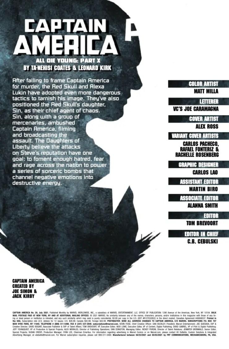 Marvel Preview: Captain America #29