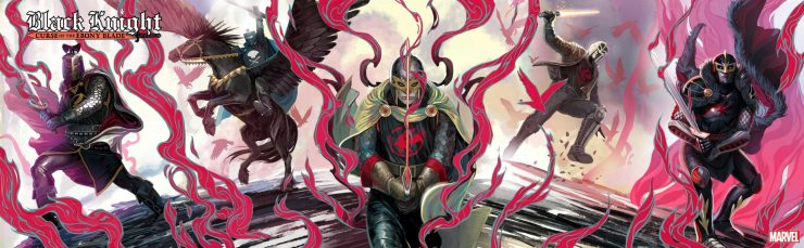 Marvel reveals full Stephanie Hans 'Black Knight' connecting cover