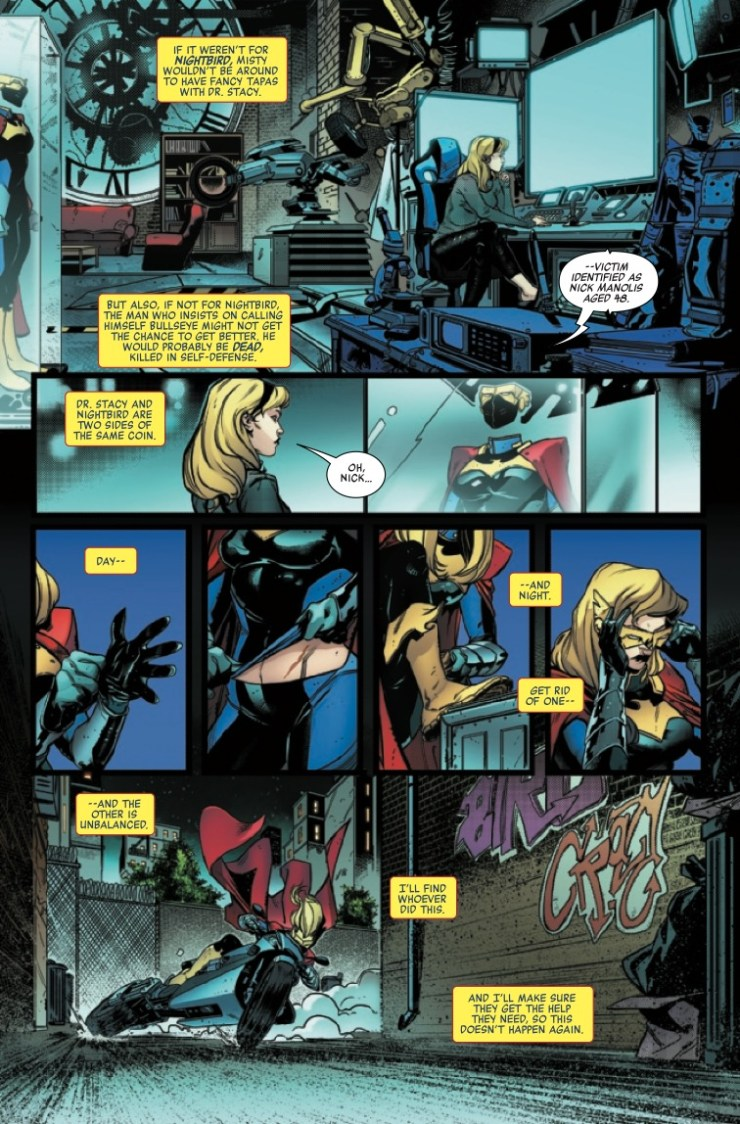 'Heroes Reborn: Night-Gwen' #1 is a terrific showcase for Gwen Stacy and Misty Knight