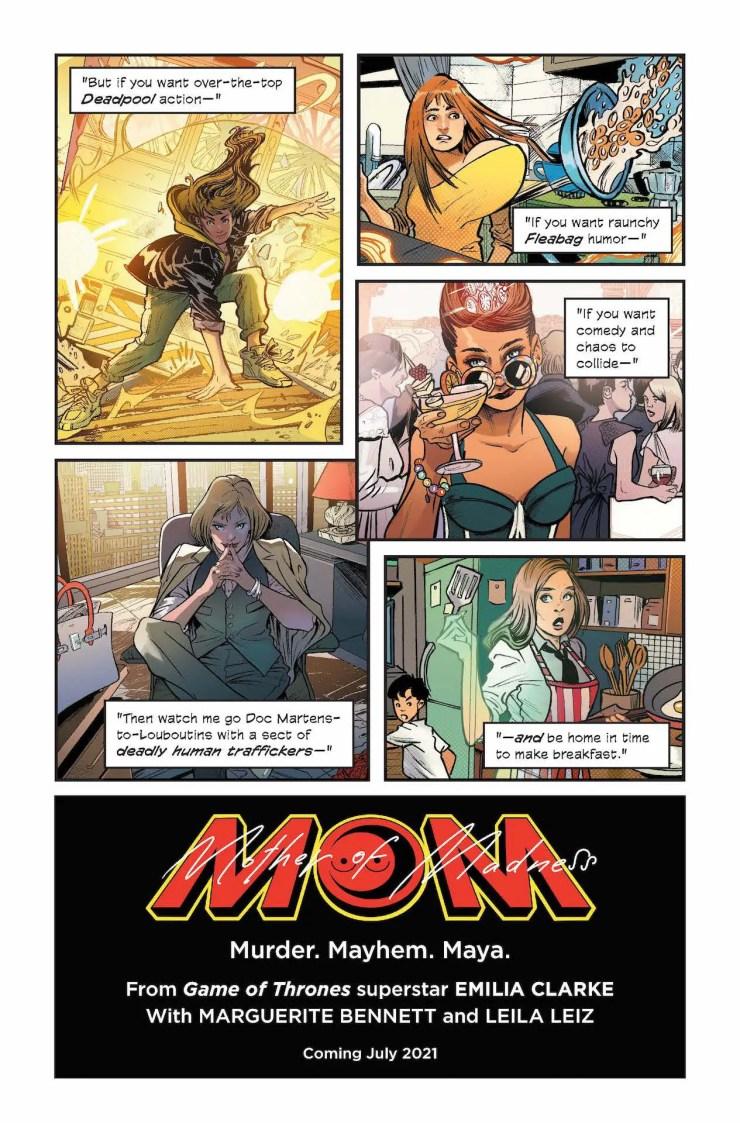 Emilia Clarke 'M.O.M.: Mother of Madness' Image Comics