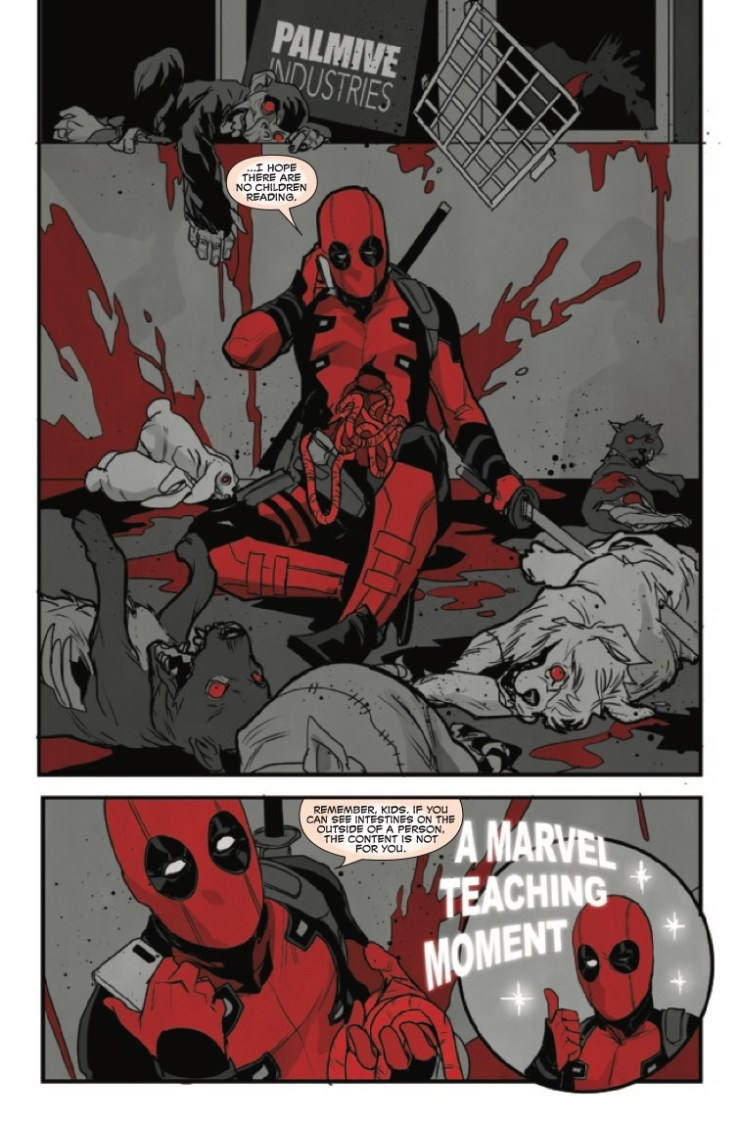 Deadpool Black White and Blood #1