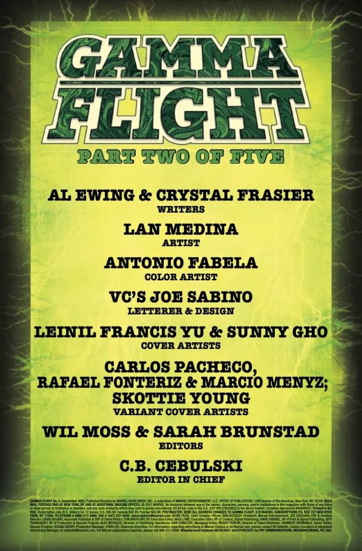Marvel Preview: Gamma Flight #2