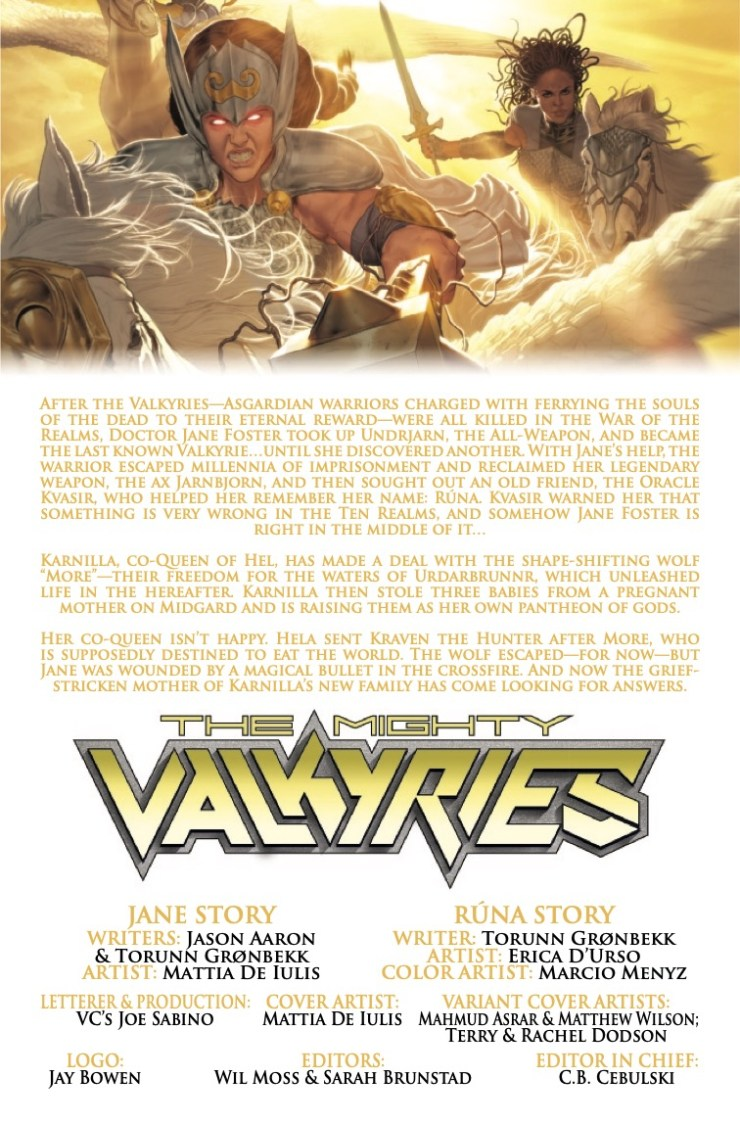 Marvel Preview: The Mighty Valkyries #4