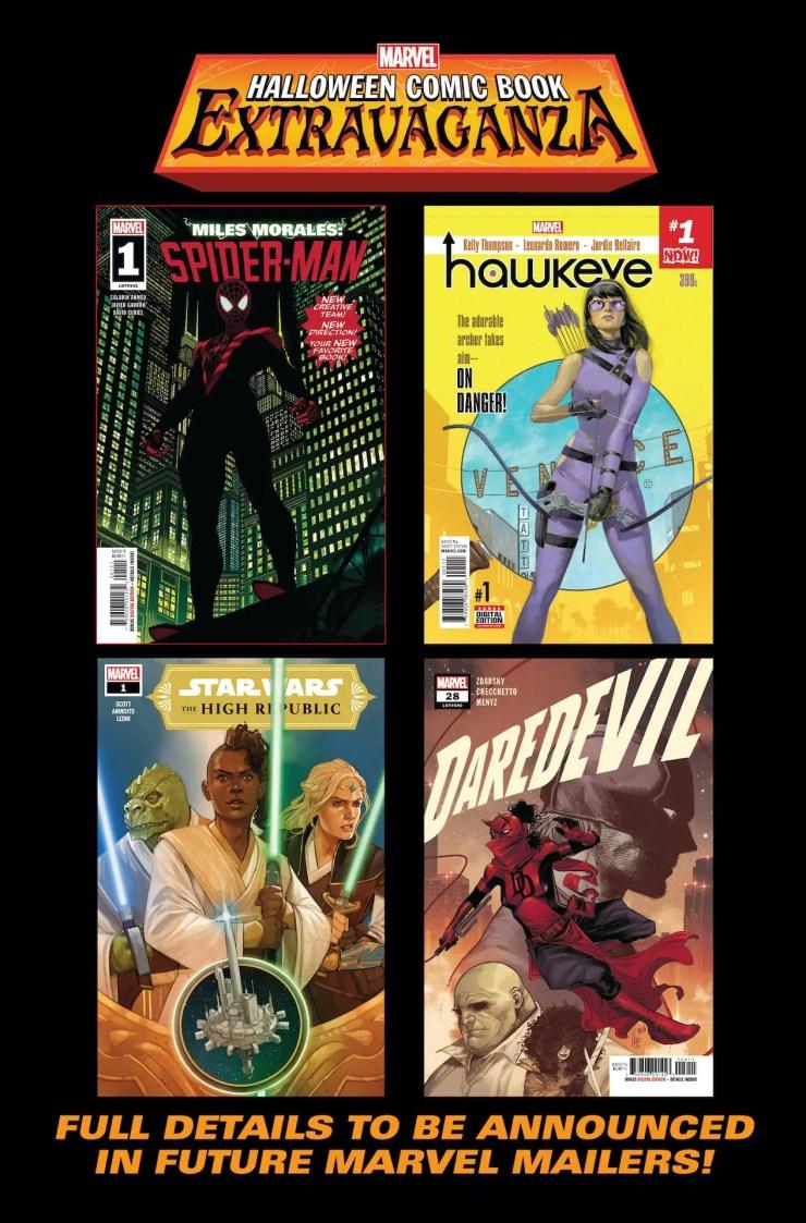 Marvel Comics hosting Halloween Comic Book Extravaganza October 27th