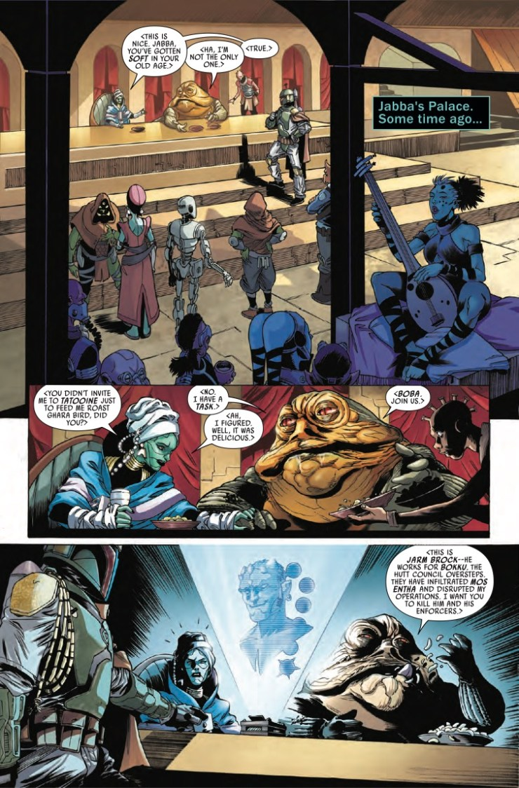 Marvel Preview: Star Wars: War of the Bounty Hunters - Jabba the Hutt #1