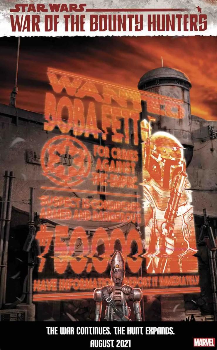 Marvel reveals 'Star Wars: War of the Bounty Hunters' David Nakayama wanted covers