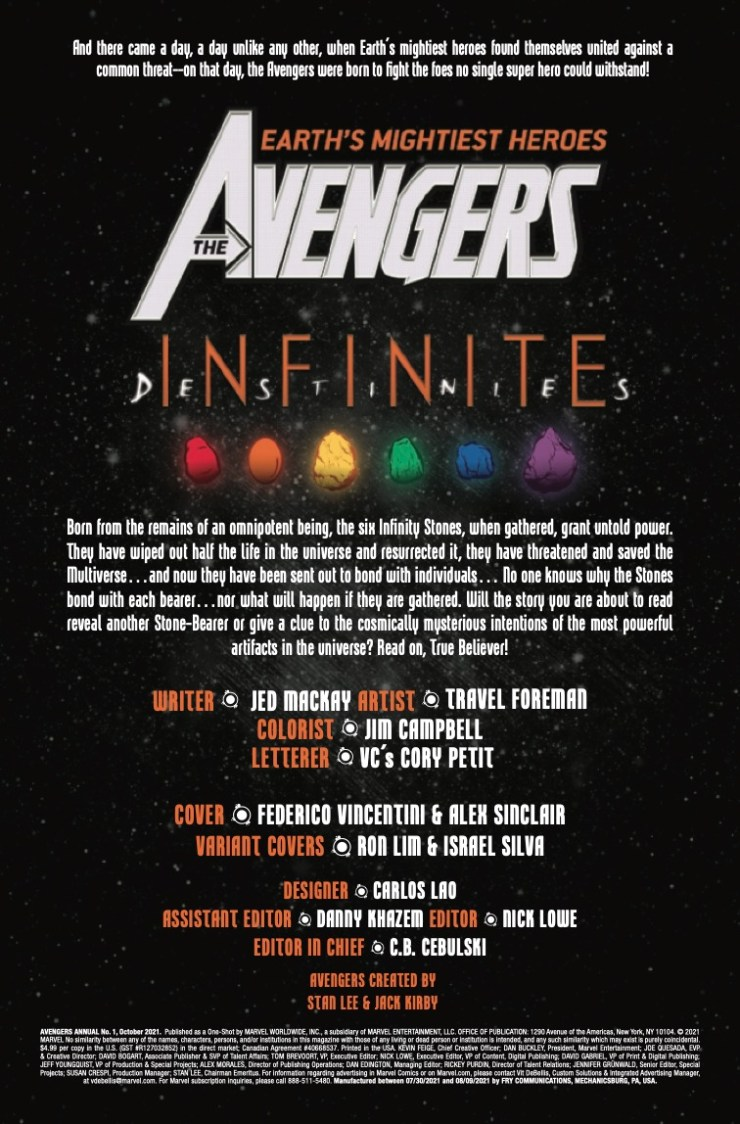 Marvel Preview: Avengers Annual 2021