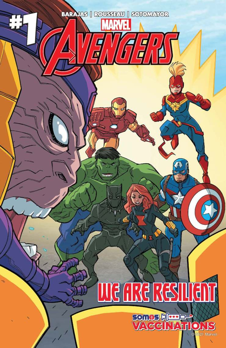 Marvel and SOMOS to distribute 20,000 comics for vaccine awareness Avengers