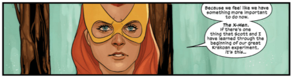 Marvel Girl Jean proposes the importance of X-Men