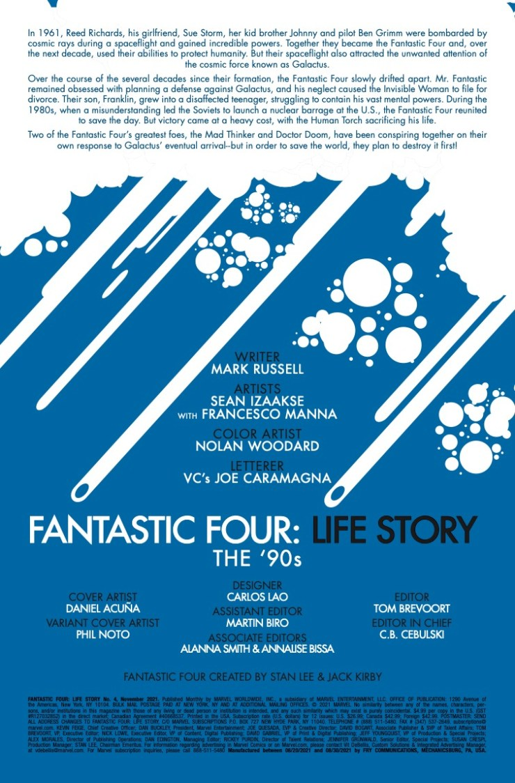 Marvel Preview: Fantastic Four: Life Story #4