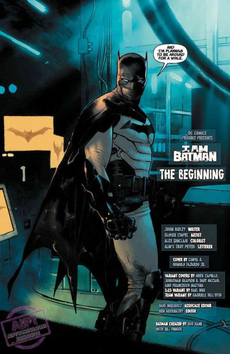DC Preview: I Am Batman #1