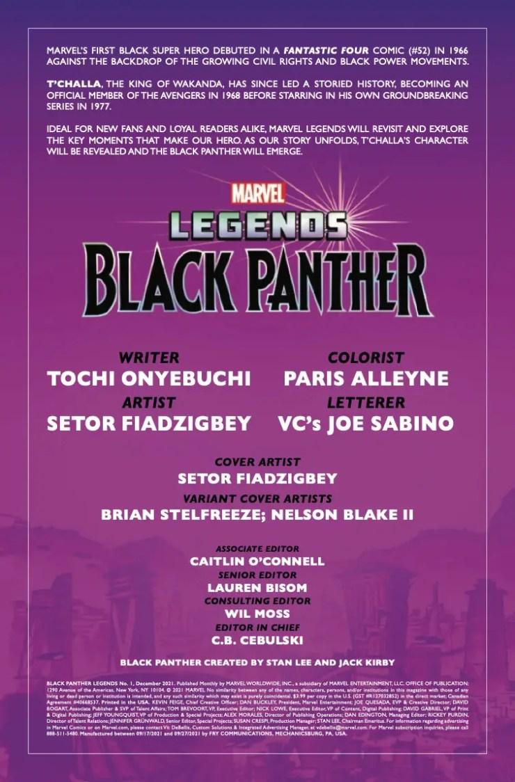 Marvel Preview: Black Panther Legends #1