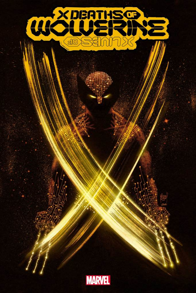Wolverine travelling through time in 'X Lives of Wolverine' and X Deaths of Wolverine' in 2022