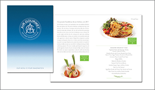 Air Gourmet new Private Inflight Catering Menu