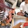メンズアシスタントをティントバー「ベリーベリーピンク」単品で染めたったwww