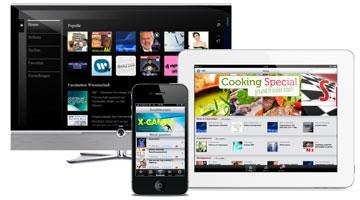 Illustration: iPad, iPhone und TV