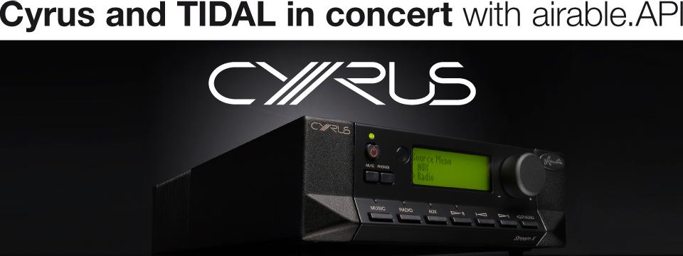 Cyrus adds TIDAL via airable.API