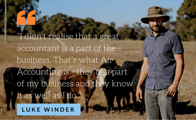 Luke Winder worked with Air Accounting to increase his organic farm's efficiency
