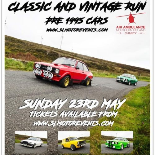 Classic and Vintage Car Run Sunday 23rd May