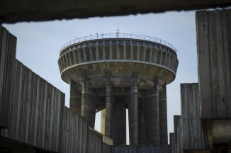 """Imperial destroyer spaceship"" water tower Hungary"