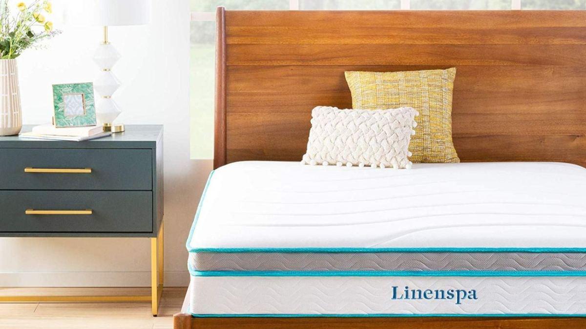 Linenspa Mattress in bed