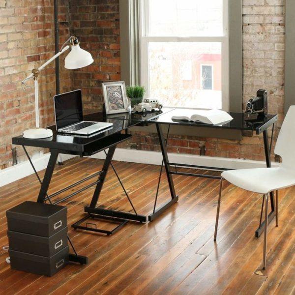 [Review] WE Furniture 3 Piece Smoke Glass Corner Desk