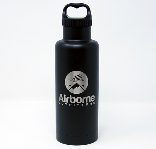Airborne outfitter black 32 oz. bottle