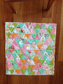 triangle girl quilt