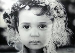 エアブラシアート 可愛い女の子