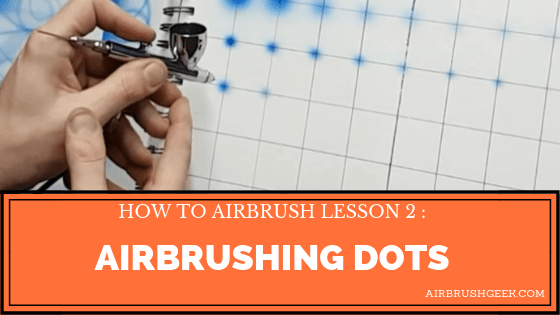 how to airbrush dots