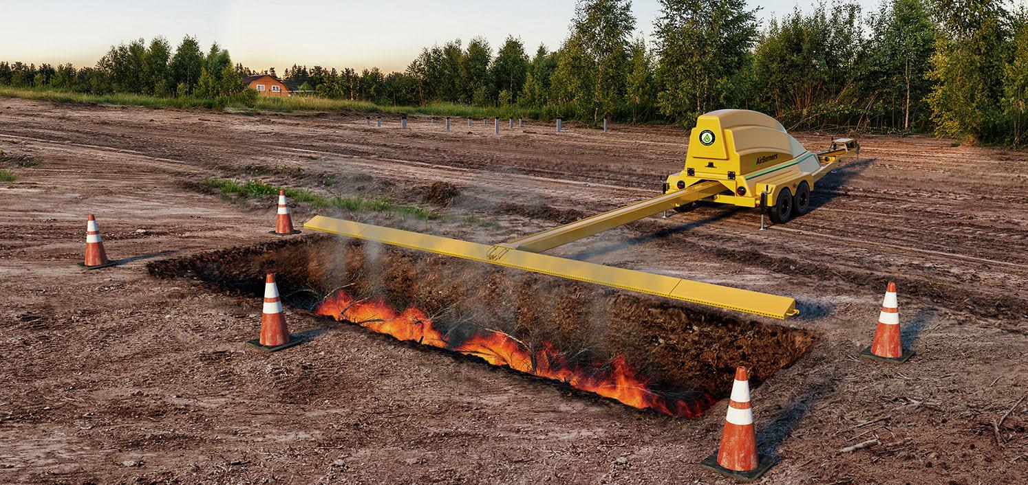 firebox vs trench burner air burners