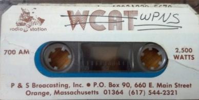 700 AM Orange Massachusetts WCAT WPNS WJOE WVBB WTUB.