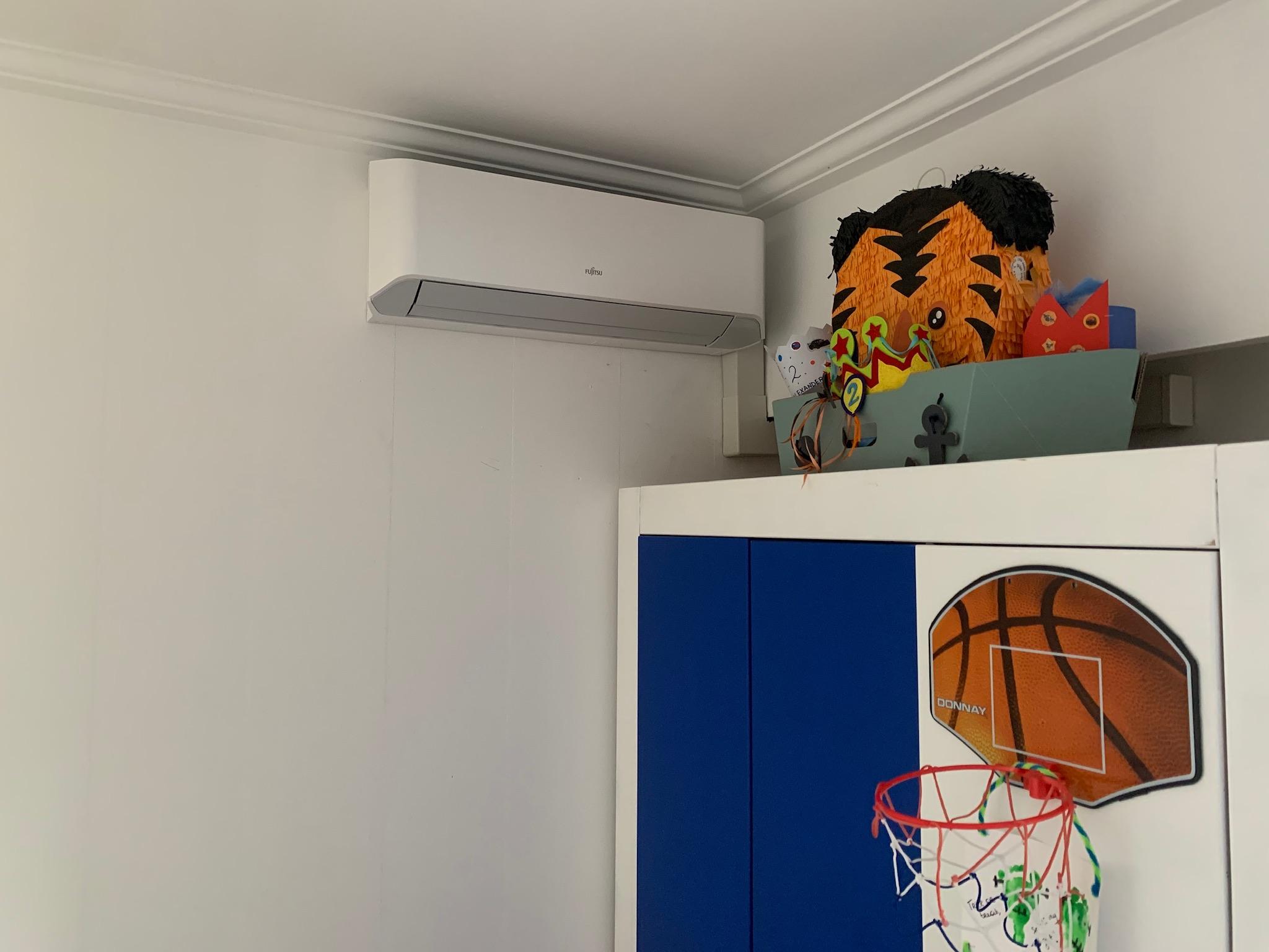 airco warmtepomp design fujitsu kinderslaapkamer beveren