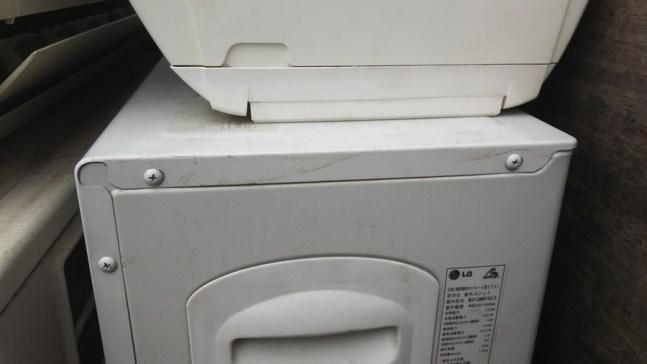 海外製のエアコンの取り外し回収