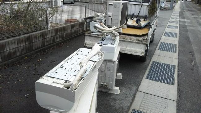 東広島エアコン3台取り外し回収
