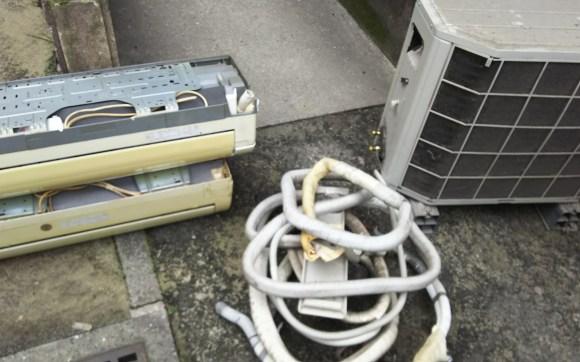 呉市アパート引っ越しエアコン不用品回収