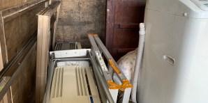 取り外し済み窓用エアコン、不用品回収