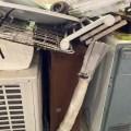 南区、解体民家のエアコン、不用品回収